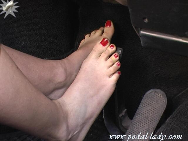 Truck drivers foot fetish